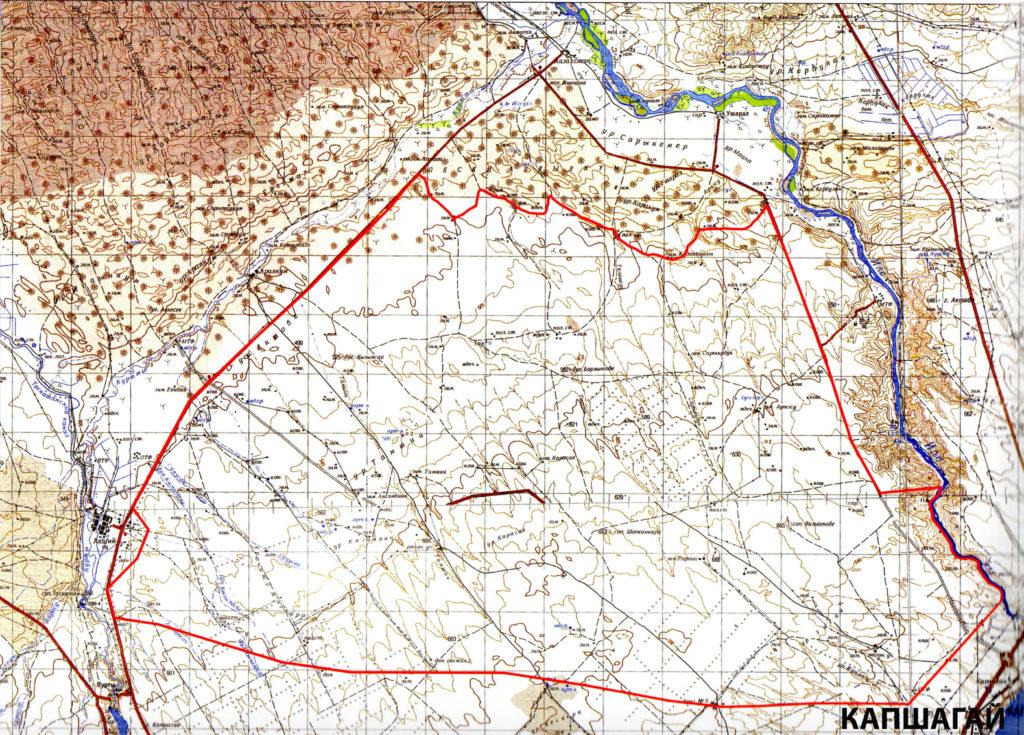 Охотничье хозяйство Кустобе - карта